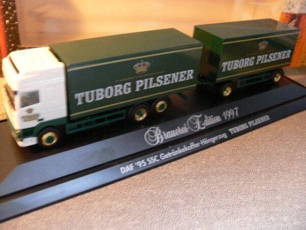 1 87 Herpa PC DAF 95 SSC Tuborg Pilsener DK Hängerzug 186025