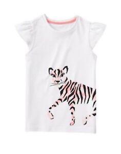 Gymboree NWT Girls Animal Party Zebra Micro Striped Top 4 5 6 7 8 10 /& 12