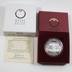 Osterreich-10-Euro-2003-Silber-PP-Schloss-Hof