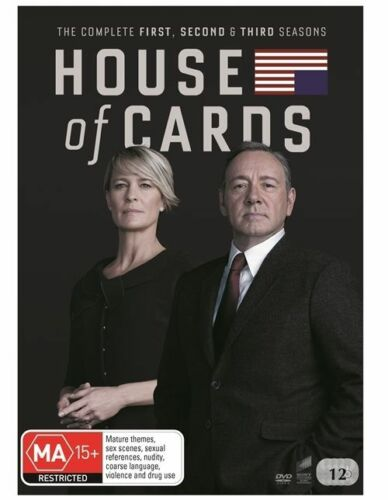 1 of 1 - House Of Cards : Season 1-3 (DVD, 2015, 12-Disc Set)