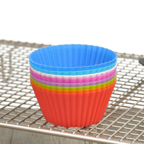 12x Mini Silicone Cup Cake Pan Mold Muffin Cupcake Form to Bake Kitchen Hot Sale