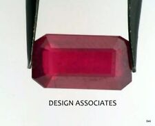 RUBY EMERALD CUT GORGEOUS RED NATURAL 10.65X7 MM