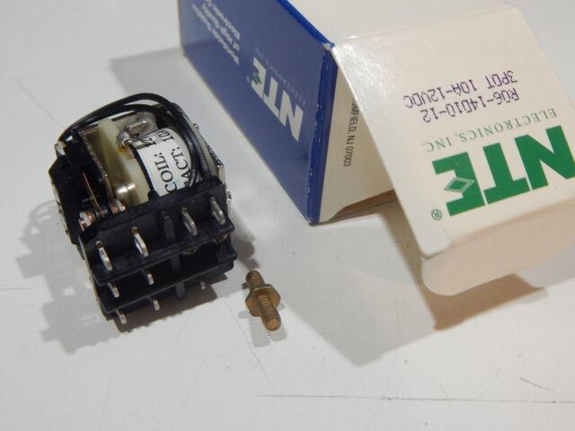 NTE Electronics R06-11D10-24 RELAY-24VDC 10 AMP DPDT GEN.PURPOSE MULTICONTACT