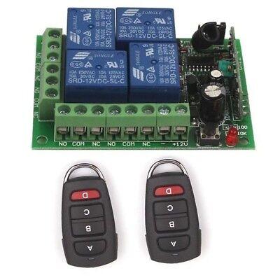 4pcs Remote Keyfob AH449 12V 4CH Relay Wireless Remote Control Switch Module