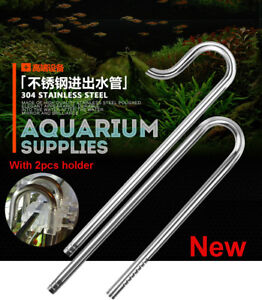 Fish & Aquariums Aquarium Plant Stainless Steel Inflow Outflow For 12/16mm Or 16/22mm Water Tube To Ensure A Like-New Appearance Indefinably Pet Supplies