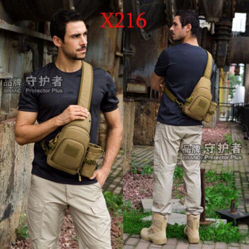 Mens Molle Tactical Sling Chest Bag Pack Messenger Shoulder Bag Backpack X216