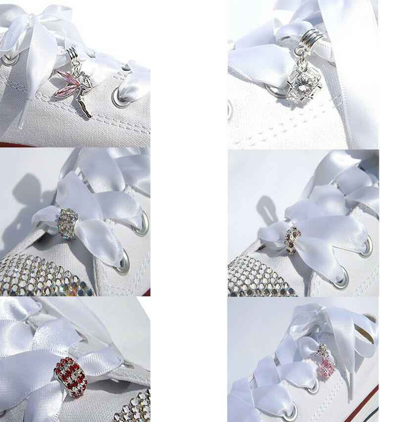Cute Tinkerbell Fairy Crystal Shoe Charms for Trainer Shoelaces & Blinged Shoes