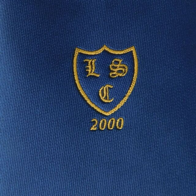 LSC cricket tie vintage 2000 sports club sponsor or school cricket Navy UNUSED