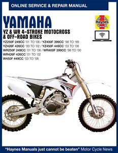 free manual for 2004 yamaha yz250f