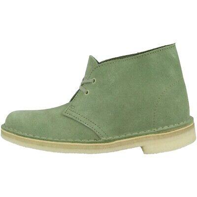 Clarks Desert Boot Women Scarpe Stivali Boots Normalissime Cactus Green 26138825-mostra Il Titolo Originale Beneficiale Per Lo Sperma