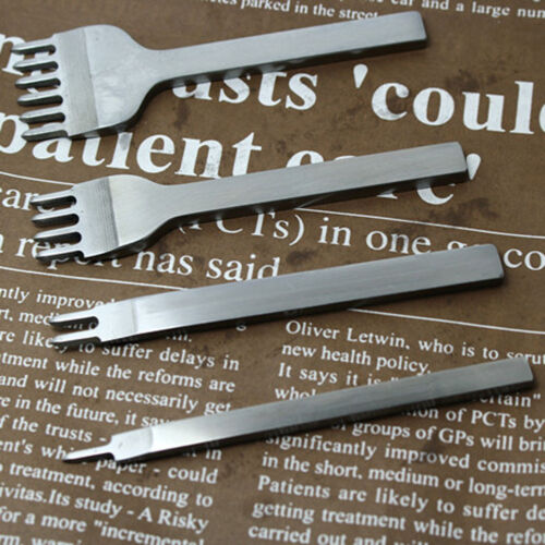 3//4//5//6mm Leather Craft Pricking Iron Diamond Stitching Chisel Hole Punch Tool