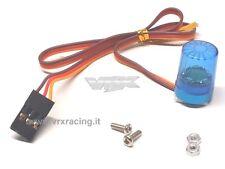 LAMPEGGIANTE LED BLU EFFETTO ROTAZIONE ATT. FUTABA VRX T986B X 1-8 1-10 1-16