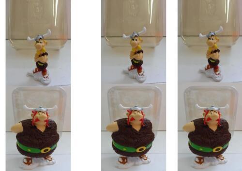 PROMO Lot 6 Ancienne Figurines Résine Astérix et Obélix Plastoy Neuf Emballé