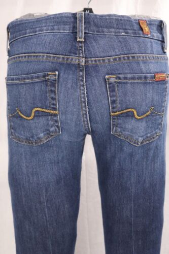 7 Mankind bleu stretch avec 24 jean délavage en denim moyen stretch All For Pantalon E8HWrOwE