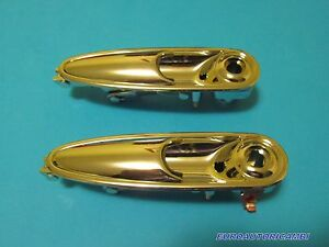 FERRARI-365-400-412-MONDIAL-OUTER-DOOR-HANDLE-LEFT-amp-RIGHT-SET-NEW