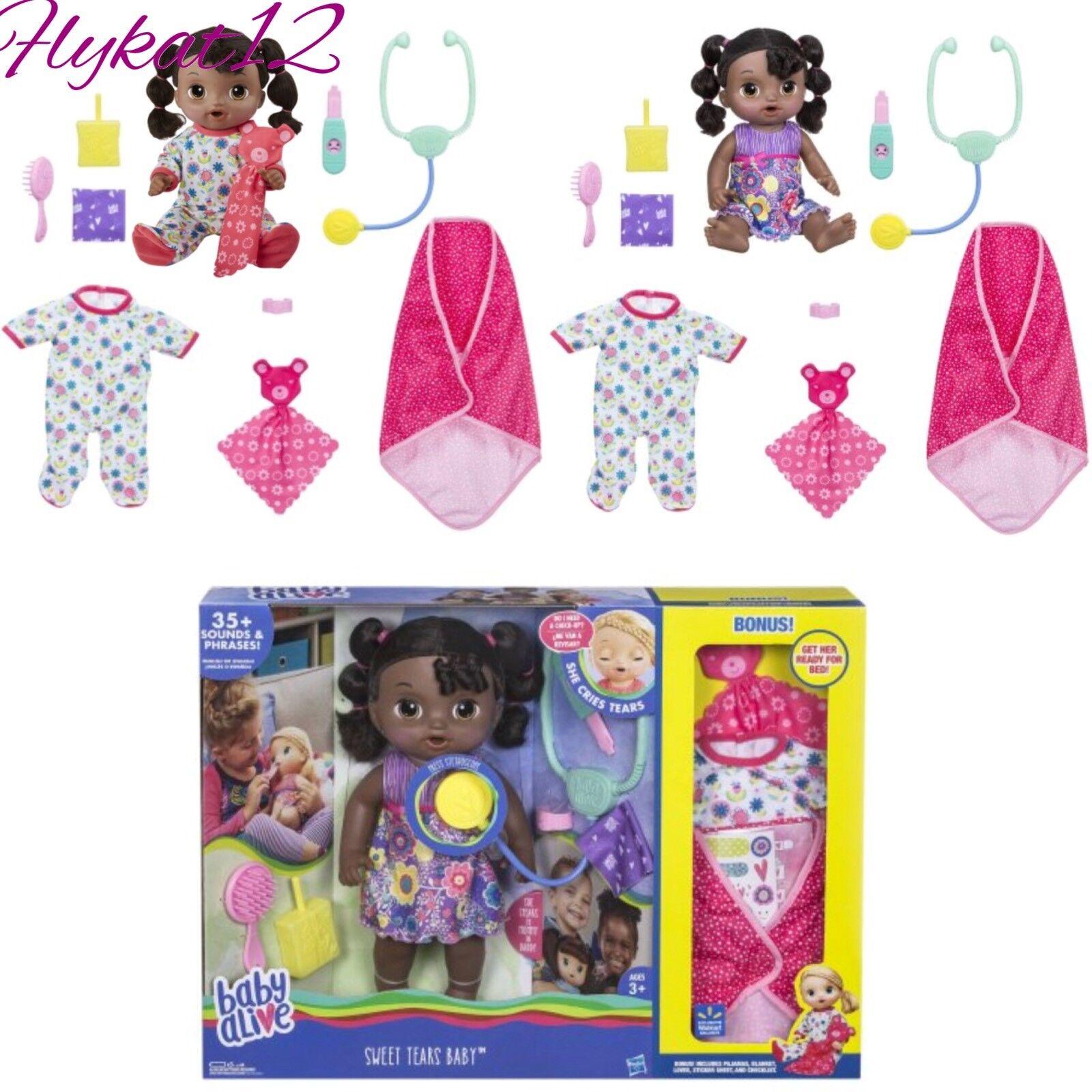 Baby Alive Dulce lágrimas afroamericano bono exclusivo Pack Ahorro