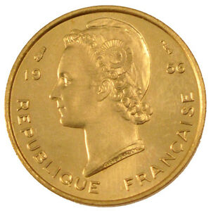 Ms 1956 Km #e3 65-70 5 Francs #103541 French West Africa Open-Minded