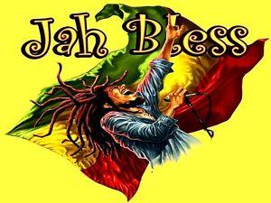"3.25"" STICKER / DECAL Zion Reggae Roots BOB MARLEY RASTA MAN JAH BLESS! Jamaica"