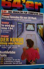 64er (64´er) 09/89 September 1989 C64 Commodore 64 (Software-Tests, Floppy) (vg)