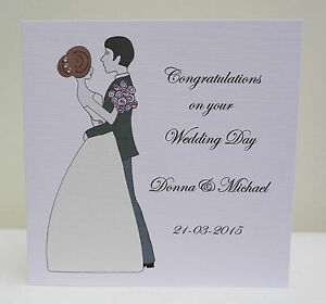 Personalised On Your Wedding Day Card Congratulations On Your