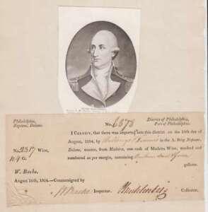 A2616: John P.G. Muhlenburg SIGNED Document