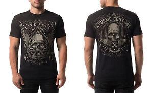Xtreme-Couture-Men-039-s-Deuces-Wild-Tee-Shirt-Black