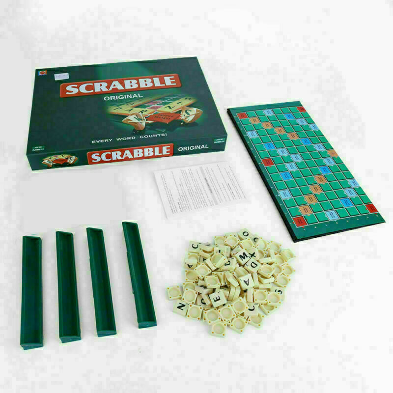 Family Original Scrabble Game Kid Adult Educational Learning Party Children Game 6