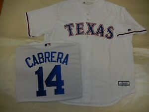 detailed look abede 95bd6 Details about 9514 Majestic MENS Texas Rangers ASDRUBAL CABRERA Jersey New  WHITE
