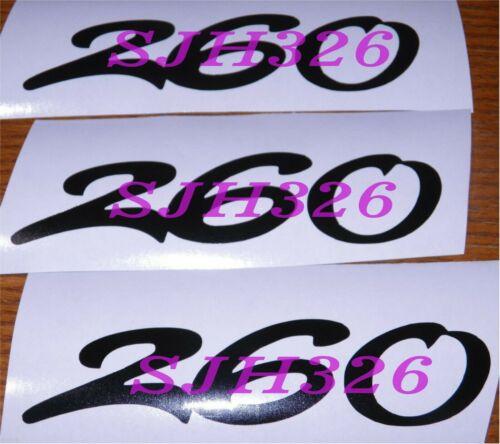 Sea Ray Sundancer custom boat numbers 260  Black
