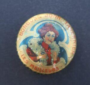 Boite-publicitaire-BONBONS-JOHN-TAVERNIER-elegante-coquelicot-old-french-box