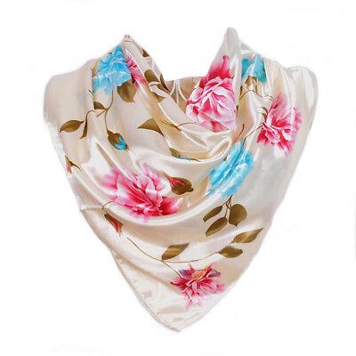 100/%  Soie Thème Floral  Rose  Silk séide scarf shawl Carré Foulard