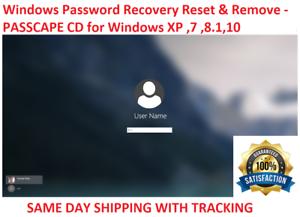 Windows Password Recovery Reset bypass CD Windows XP VISTA
