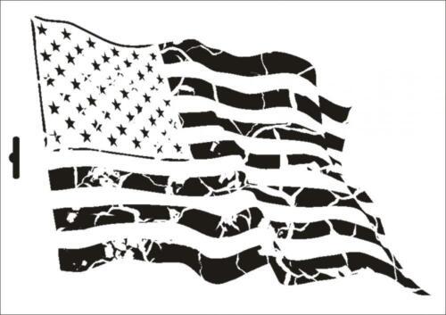 Wandschablone Maler T-shirt Schablone W-371 Vintage USA ~ UMR Design