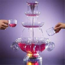 4 Tier Punch Bowl Champagne Beer Soda Water Wedding Party Event Drink Fountain