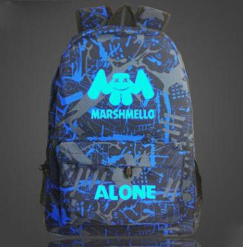 Marshmello seul coréen lumineux cartable étudiant école épaules Sac à dos