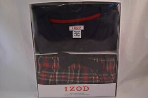 Men's Clothing Men's M Blue/red Izod 100% Cotton 2 Piece Long Sleeve/ Flannel Pant Sleep Set N Sales Of Quality Assurance