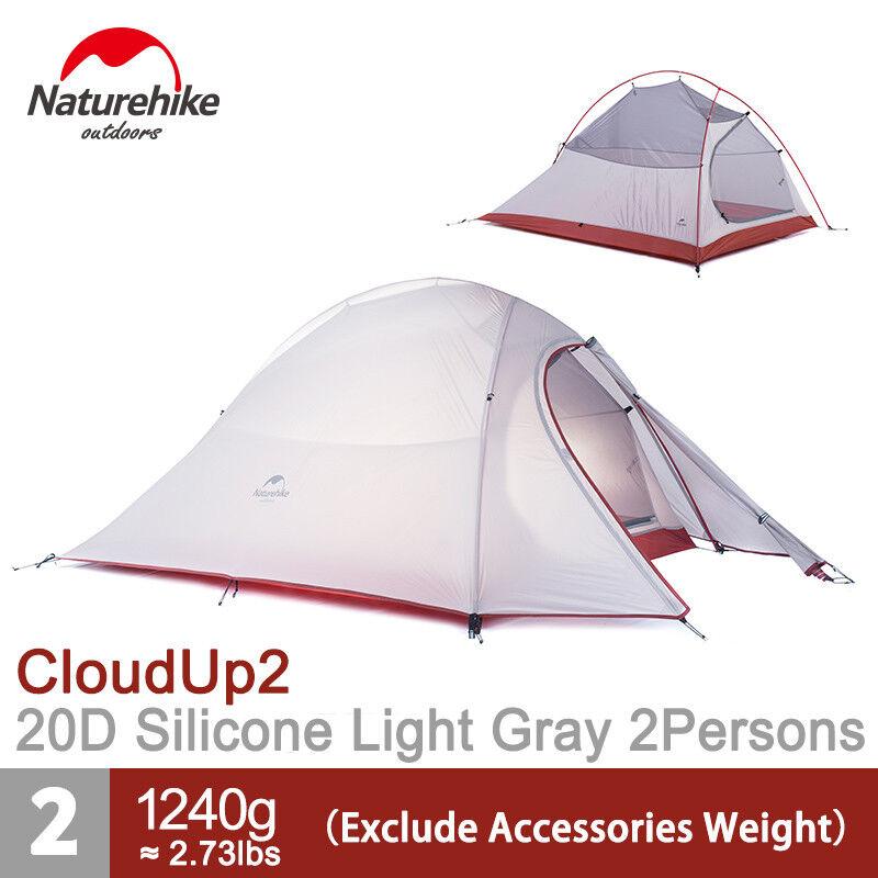 Naturehike 2 Person 4 Season campeggio Tent Waterproof  Ultralight gratuito Footprint