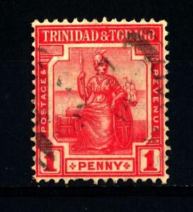 Trinidad And Tobago - 1913-1923 - Britannia Seduta: Legenda Trinidad & Tobago Belle En Couleur