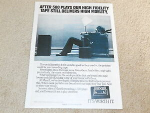 Maxell-Cassette-Tape-Ad-Famous-Poster-11-034-x9-034-1980-Classic