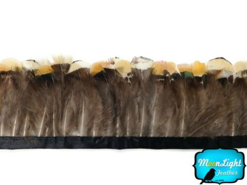 Pheasant Feathers 1 Yard Yellow Lady Amherst Pheasant Feather Trim