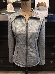 Tangerine Active Wear (Women's Size S) Running Zip Long Sleeve Jacket