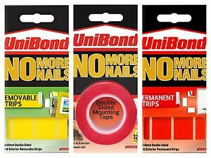 Image Is Loading Unibond No More Nails Picture Hanging Strips Double