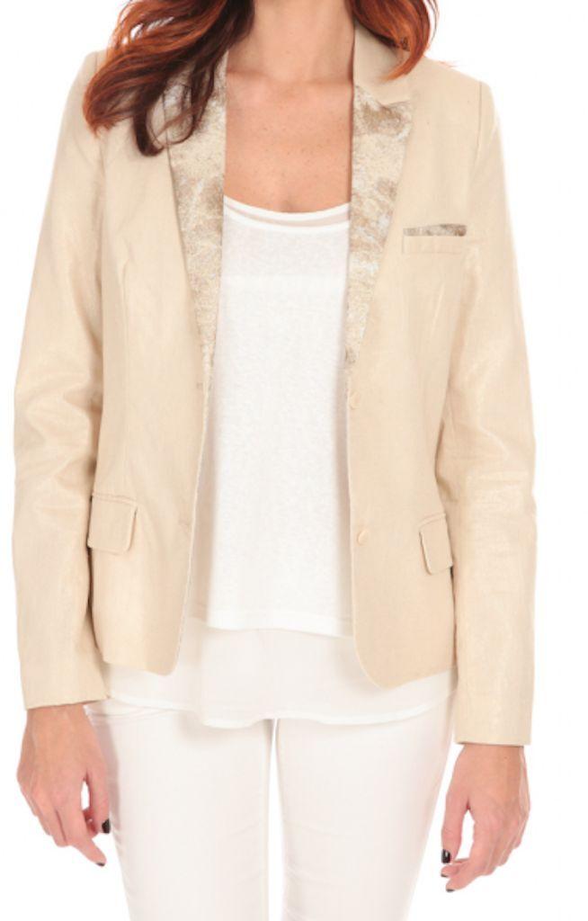 LPB ETE 2016   veste blazer brillant S160502 neuve, étiquetée, valeur