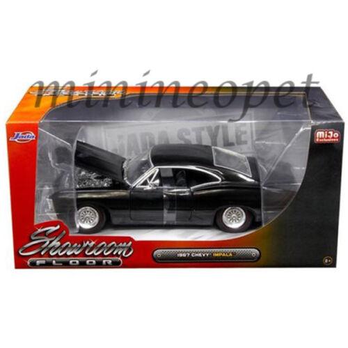 JADA 98910 SHOWROOM FLOOR 1967 67 CHEVROLET IMPALA 1//24 DIECAST MODEL CAR BLACK