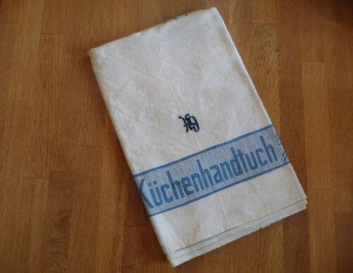 Altes Küchenhandtuch Geschirrtuch beschriftet mit Initialen GH