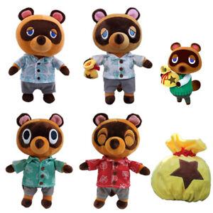 Game Animal Crossing Raccoon Tom Nook Timmy Tommy Plush Shoulder Bag Crossbody