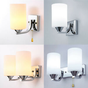 modern glass led light wall sconce lamp lighting fixture indoor
