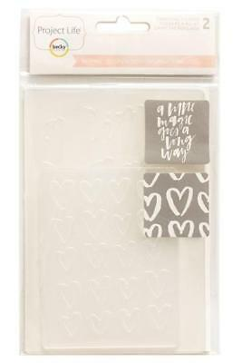 Embossing Folders Quote Heart Becky Higgins Planner Project Life INSPIRE 2