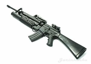 Details about 1/6 Scale M16A4 Assault Rifle US Army w/ Grenade Launcher Gun  Model Figure