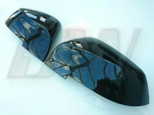 GLOSS BLACK MIRROR COVERS CAPS for BMW 1 SERIES 2ND GEN 2011-19 F20 F21 CHASSIS
